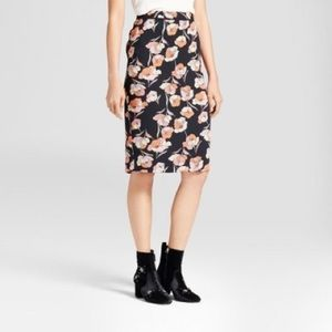 🌿 Who what wear floral pencil skirt